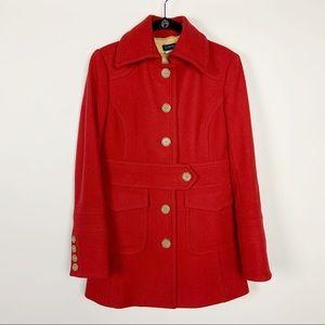 J. Crew Red Wool Pea Coat
